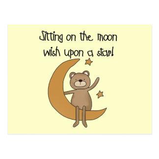 Bear Moon and Stars Tshirts and Gifts Postcard