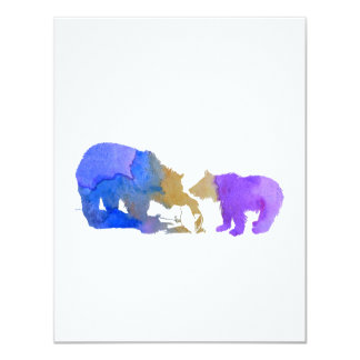 Bear mother and cub card