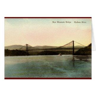 Bear Mountain Bridge, Hudson River NY Vintage 1927 card