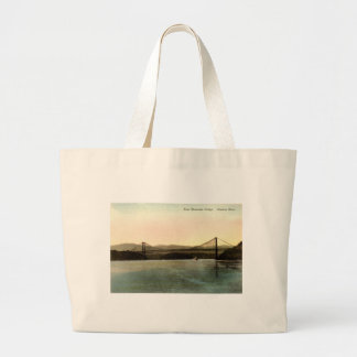 Bear Mountain Bridge, Hudson River NY Vintage 1927 Large Tote Bag