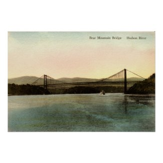 Bear Mountain Bridge, Hudson River NY Vintage 1927 print