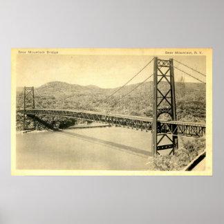 Bear Mountain Bridge, Hudson River NY, Vintage Poster