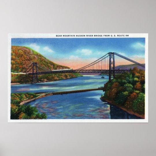 Bear Mountain Hudson River Bridge Poster