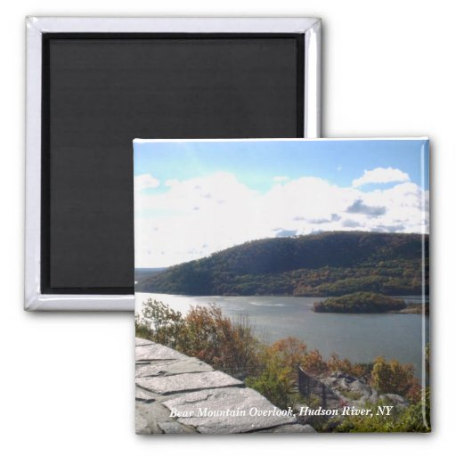 Bear Mountain Overlook, Hudson River, NY 2 Inch Square Magnet