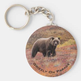 Bear Moves Through Autumn Colors In Alaska Keychain