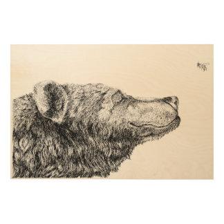 Bear Necessities by Inkspot Wood Print