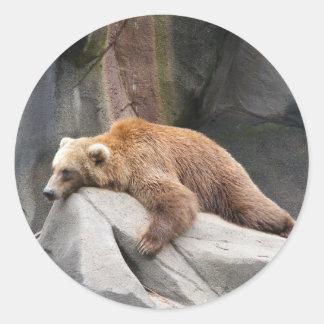 Bear Necessities Round Sticker