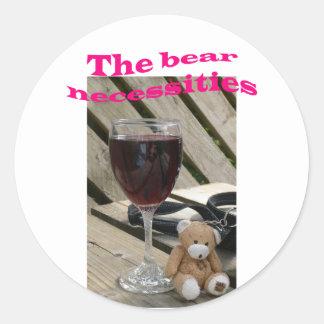 Bear Necessities Stickers