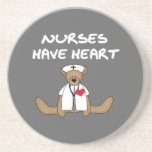 Bear Nurses Have Heart T-shirts and Gifts Drink Coasters