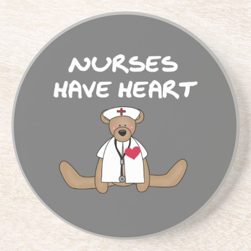 Bear Nurses Have Heart T-shirts and Gifts Beverage Coasters