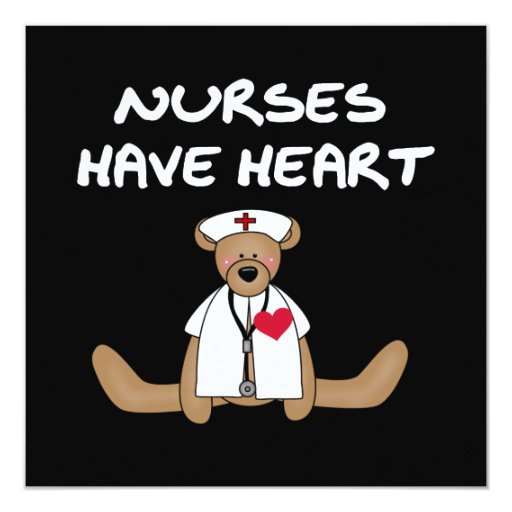 Bear Nurses Have Heart T-shirts and Gifts Personalized Announcement