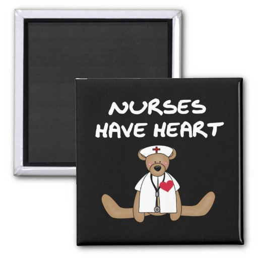 Bear Nurses Have Heart T-shirts and Gifts Refrigerator Magnet