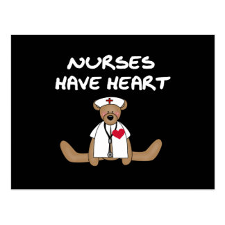 Bear Nurses Have Heart T-shirts and Gifts Postcard