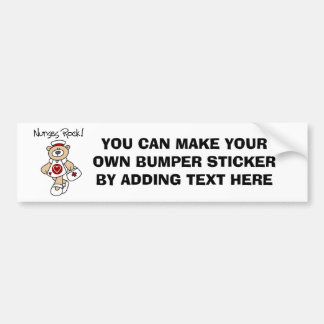 Bear Nurses Rock T-shirts and Gifts Bumper Stickers