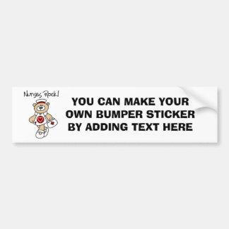 Bear Nurses Rock T-shirts and Gifts Car Bumper Sticker