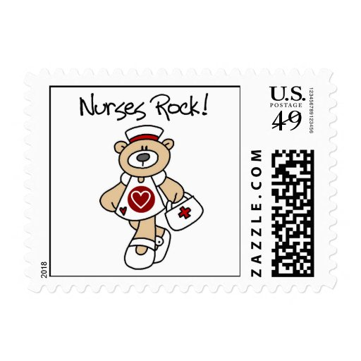 Bear Nurses Rock T-shirts and Gifts Stamp