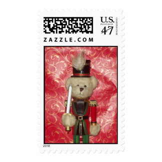 Bear Nutcracker Postage Stamp