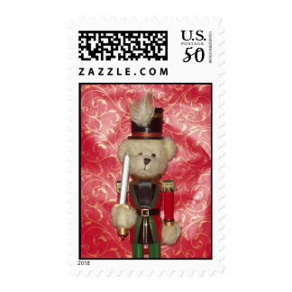 Bear Nutcracker Postage Stamp