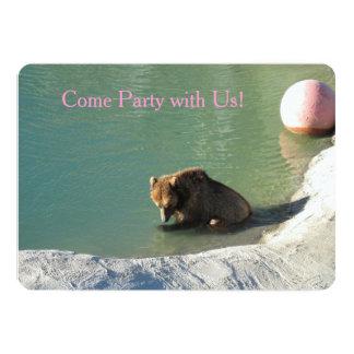 Bear of a Party Invitation