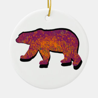 BEAR OF SOL Double-Sided CERAMIC ROUND CHRISTMAS ORNAMENT