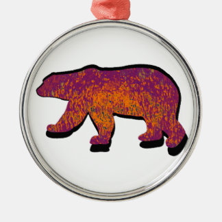 BEAR OF SOL ROUND METAL CHRISTMAS ORNAMENT