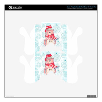 Bear of Winter Skin For PS3 Controller