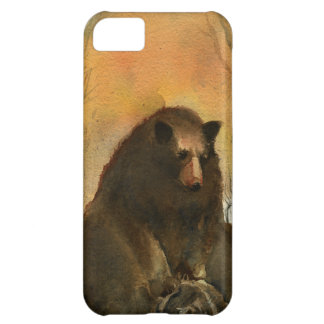 Bear on a Log Cover For iPhone 5C