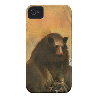 Bear on a Log iPhone 4 Cover
