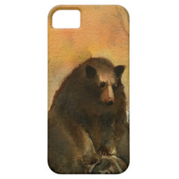 Bear on a Log iPhone SE/5/5s Case