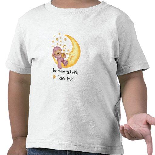Bear on Moon I'm Mommy's Wish (pink) Shirt