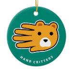 Hand shaped Bear ornament
