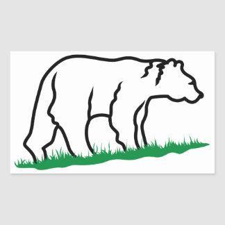 Bear Outline Stickers  Zazzle