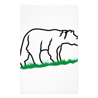 Bear Outline Stationery