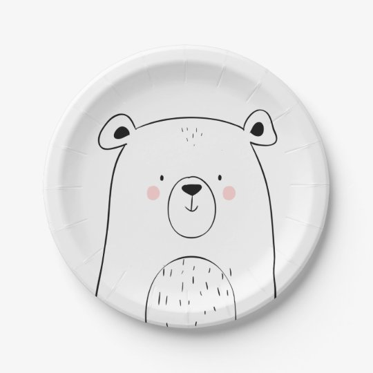 Bear Paper Plates Baby shower Woodland animals  sc 1 st  Zazzle & Bear Paper Plates Baby shower Woodland animals | Zazzle.com