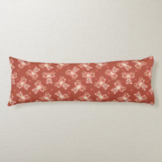 bear patchwork pattern body pillow