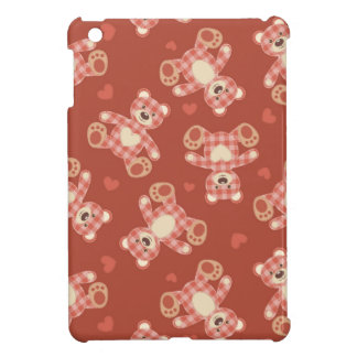 bear patchwork pattern case for the iPad mini