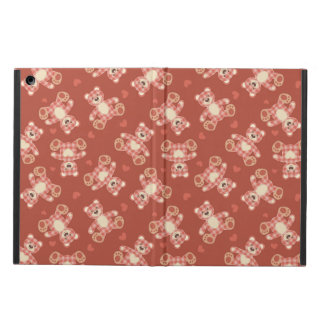 bear patchwork pattern iPad air cases