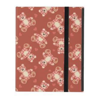 bear patchwork pattern iPad cover