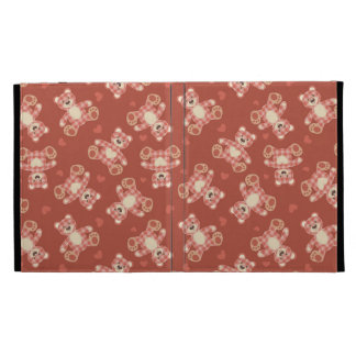 bear patchwork pattern iPad folio cover