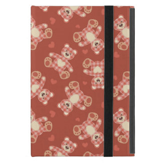 bear patchwork pattern iPad mini case