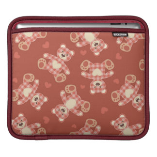 bear patchwork pattern sleeve for iPads