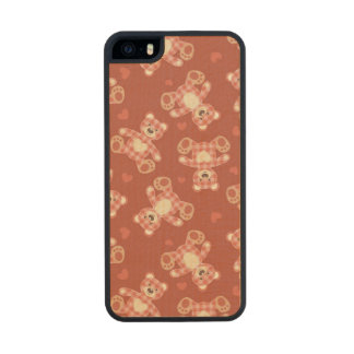 bear patchwork pattern wood iPhone SE/5/5s case