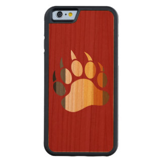 Bear Paw Bear Pride Colors Carved Cherry iPhone 6 Bumper Case