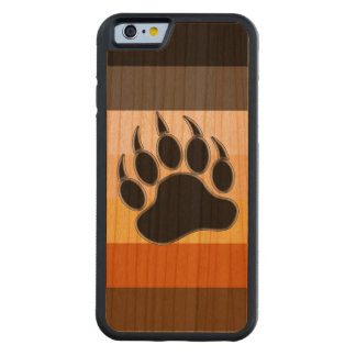 Bear Paw Bear Pride Colors Carved® Cherry iPhone 6 Bumper Case