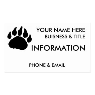 Bear Paw Buisness Cards Business Cards