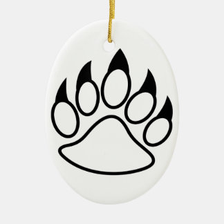 Bear Paw Ceramic Ornament