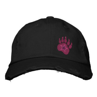 Bear Paw Claws Wild Star Embroidery Embroidered Baseball Hat