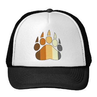 Bear Paw Gay Pride Hat Flag Colors
