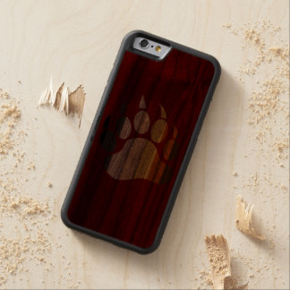 Bear Paw in Bear Pride Flag Colors Carved® Walnut iPhone 6 Bumper Case