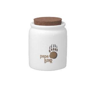 BEAR PAW PAPA CANDY JARS